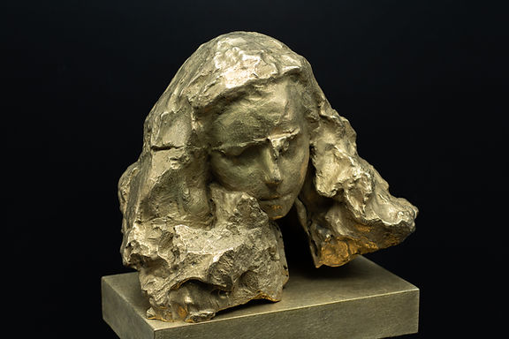 Out of stone, bronze, by Irina Shark