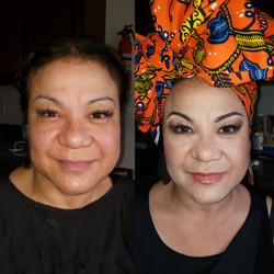 Headwrap and Makeup