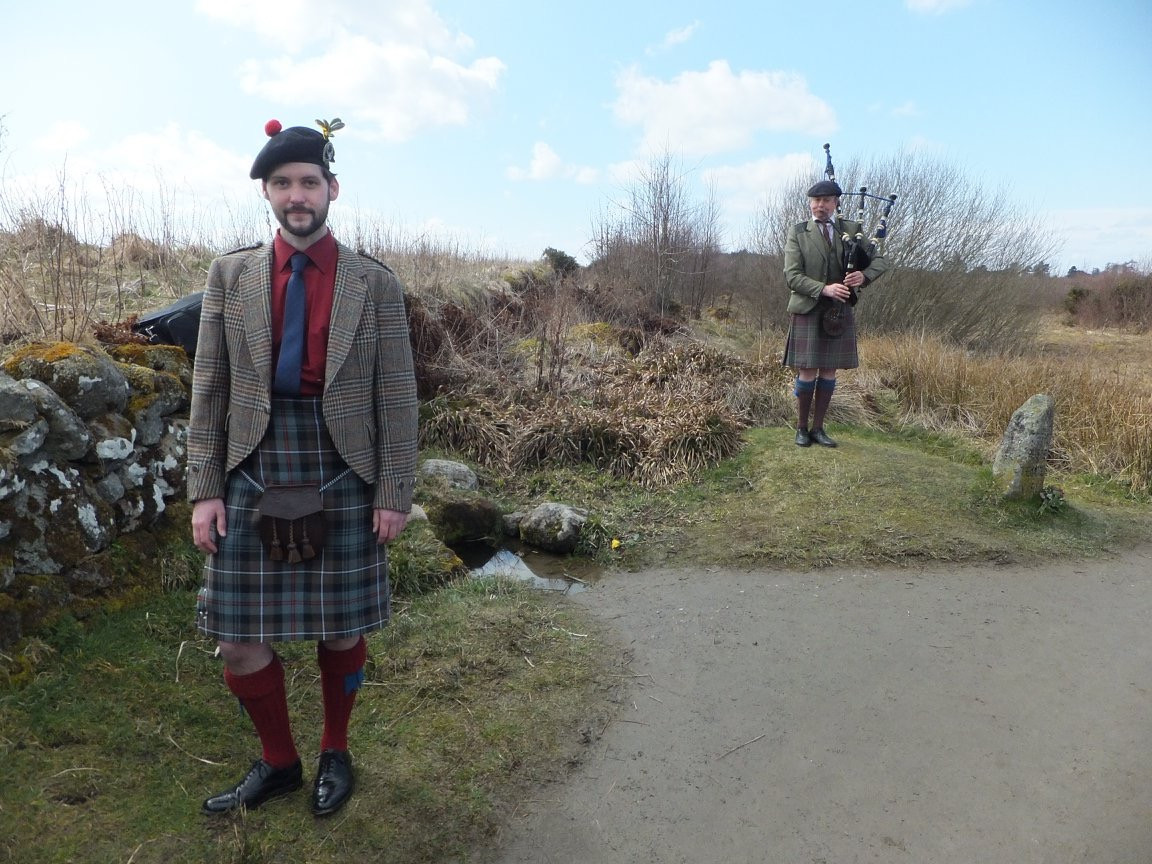 with Duncan MacGillivray, Piping at the