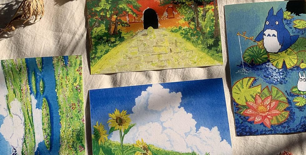 Ghibli Postcards