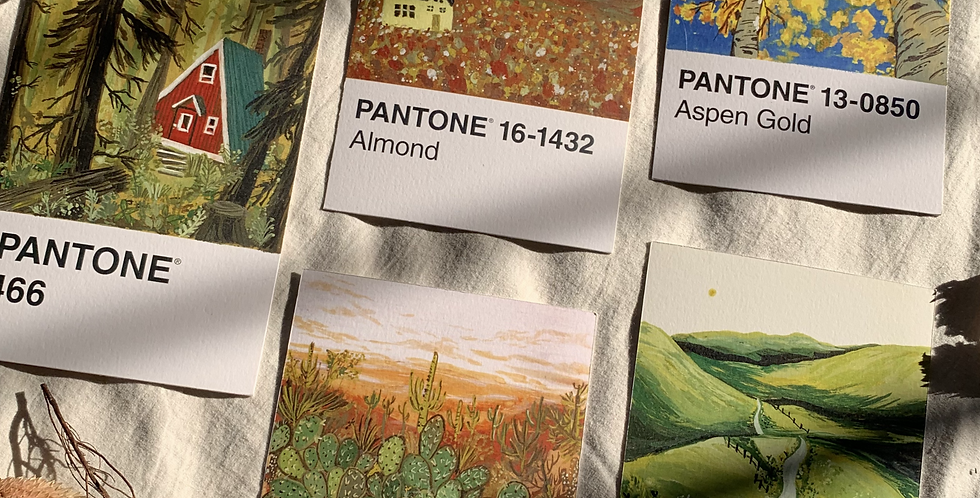 pantone post card - yellow hues
