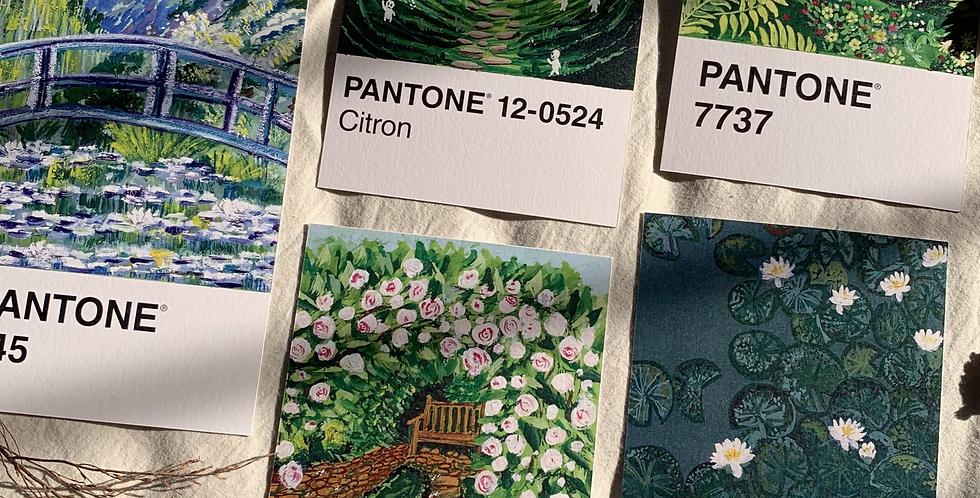 pantone post card - green hues