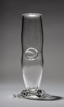 The Leg of My Life, clear blown glass leg vase