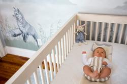 Baby Girl in her Nursery