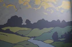 Detail of Landscape Mural
