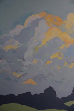 Sunlit Clouds Wall Mural Detail