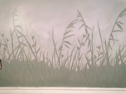Reeds and Grasses in Nursery Mural