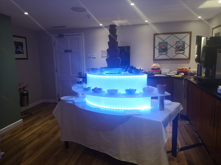 Led chocolate fountain stand