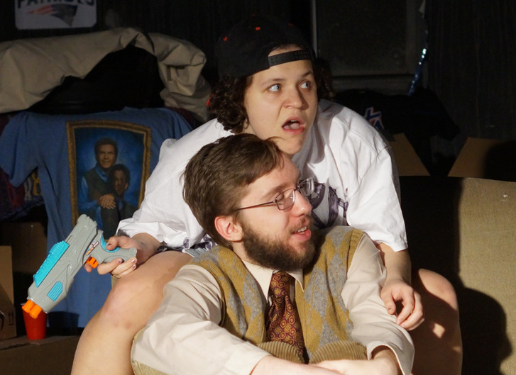 L-R: Katy Greskovich as Skip, Sam Hopper as Tim