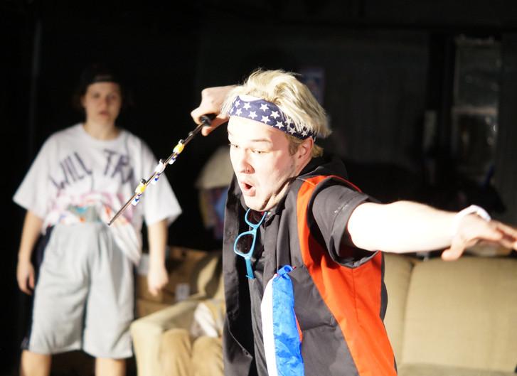 L-R: Katy Greskovich as Skip, Logan Watkins as Big Petey Sweets