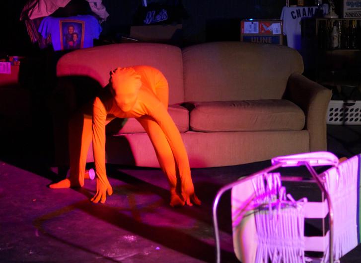 Julliette Holliday as the Orange Thing