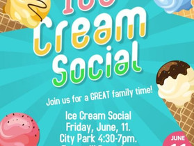 Williamsburg Community Library Ice Cream Social Rescheduled for June 18th due incoming storms.
