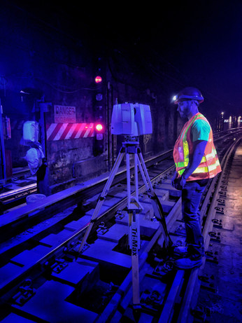 3D Laser Scanning of the Joralemon Tunnel, New York, NY.