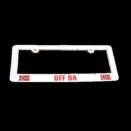 "License Plate Holder - ""UFF DA"""