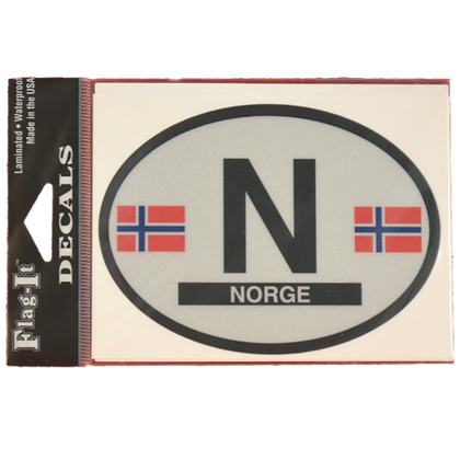 Decal - Norge (with Large N)