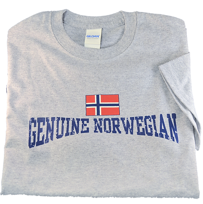 "T-Shirt - ""Genuine Norwegian"" (Adult)"
