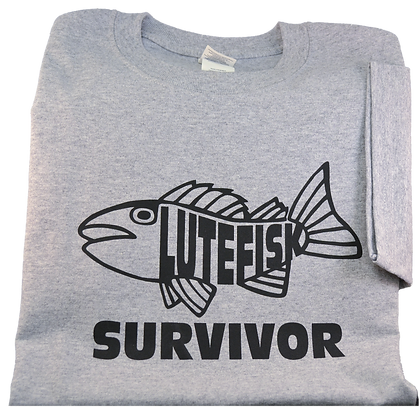 "T-Shirt - ""Lutefisk Survivor"" (Adult)"