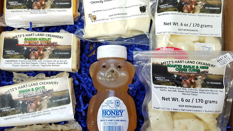 Gift Set D - Honey & Cheese