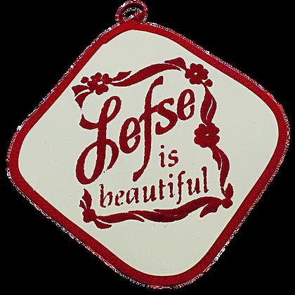"Hot Pad - ""Lefse is Beautiful"""