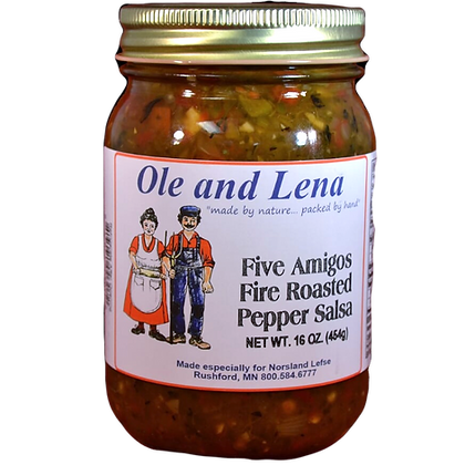 Salsa - Five Amigos Fire Roasted Pepper (Very Hot)