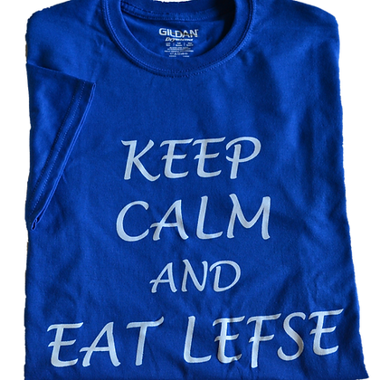 "T-Shirt - ""Keep  Calm and Eat Lefse"" (Adult)"