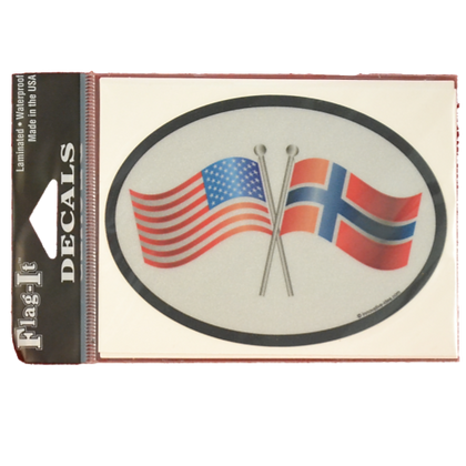 Decal - Norway & US Flag