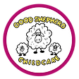 Child Care Logo with pink circle backgro