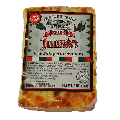 Cheese - Juusto Baked Cheese with Jalapeno Peppers