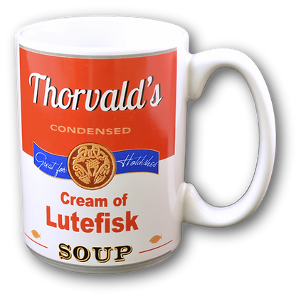 """Mug - """"Cream of Lutefisk Soup"""" - 12 oz"""