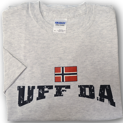 "T-Shirt - ""UFF DA"" with Flag (Adult)"