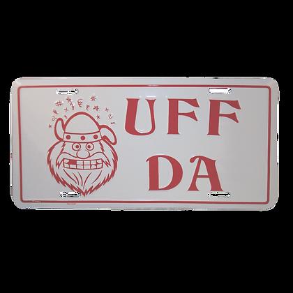 License Plate - Uff Da