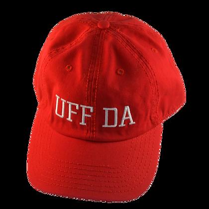 """Cap - """"Uff Da"""" (Red)"""