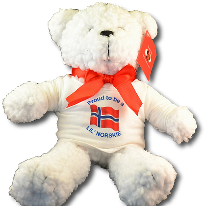 """""""Proud to be a Lil' Norskie"""" Teddy Bear"""