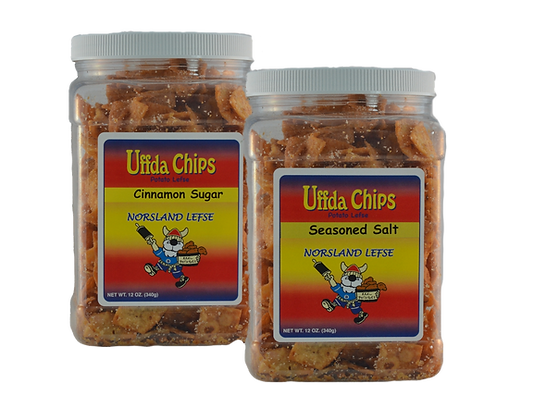 Uffda Chips - 2-Pack Combo (12oz each)
