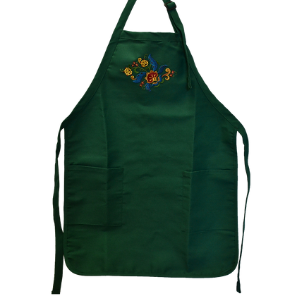 Apron - Back Tie Style, Embroidered