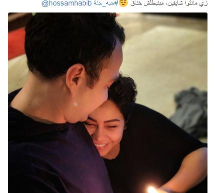 """شيرين """"مابتبطلش خناق """" مع حسام حبيب"""