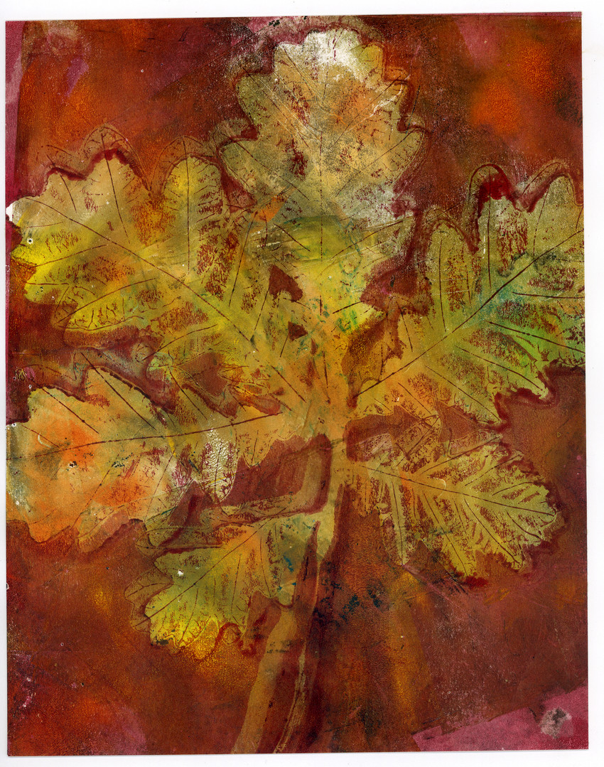 Autumn Shades Oak branch print