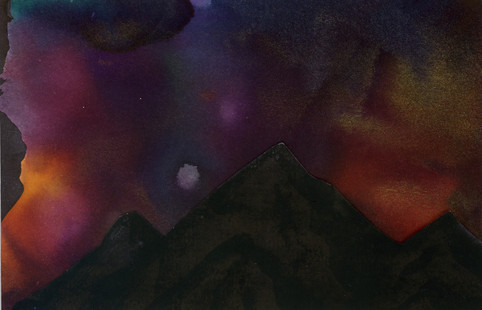 Purple and Red Northern Lights print