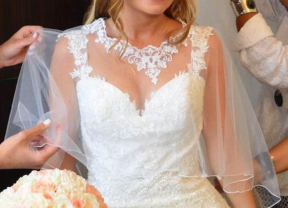 Cape mariée transparente en dentelle