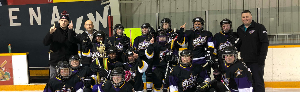 PeeWee A2 Girls Champions - Winnipeg East Stars Purple