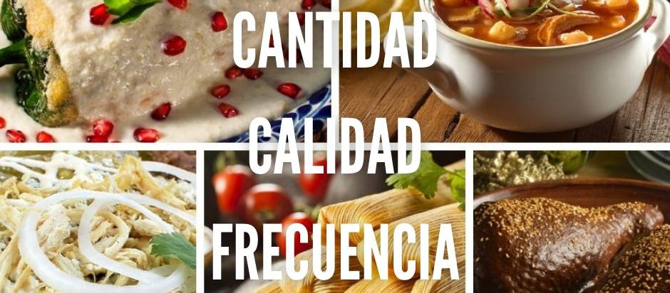 CANTIDAD, CALIDAD Y FRECUENCIA