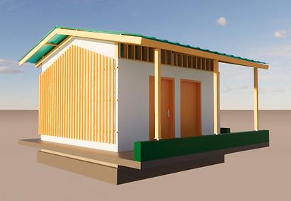 Maquette 3D des sanitaires