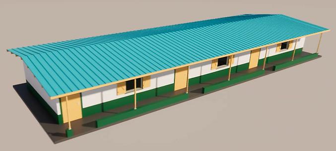 Maquette 3D des salles de classe