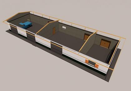 Maquette 3D des ateliers