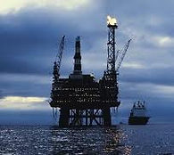 deep sea oil well platform