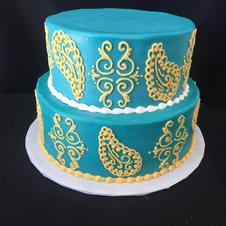 Tiered, or stacked cakes