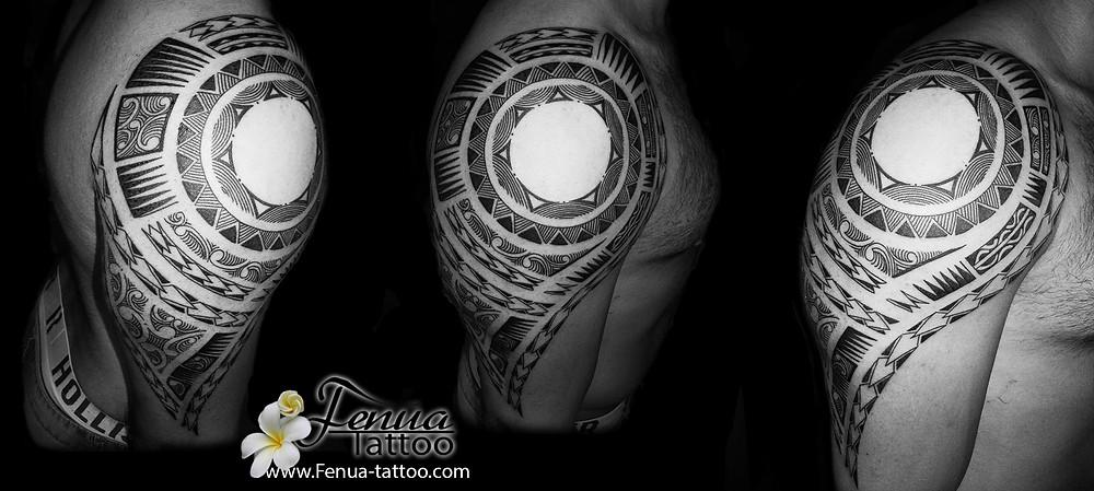 tatouage polynésien tribal maorie