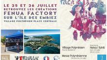 Retrouvez les création murale Fenua Factory sur l'île des embiez le 25 et 26 juillet 2020