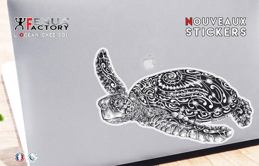 Stickers autocollant tortue marine