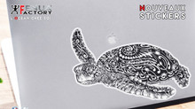 La nouvelle collection de Stickers continue avec la Tortue marine sur